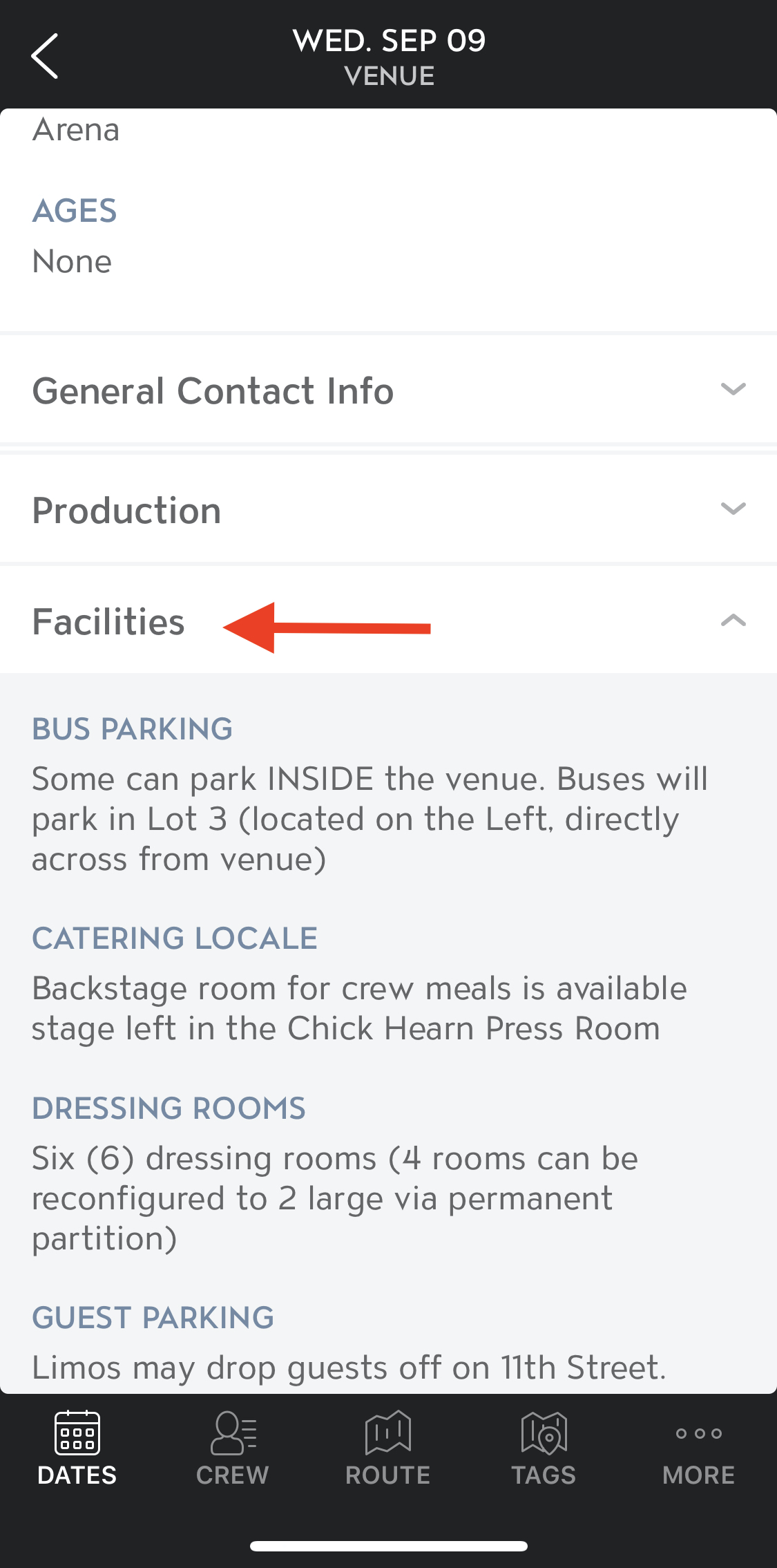 View Facility Details