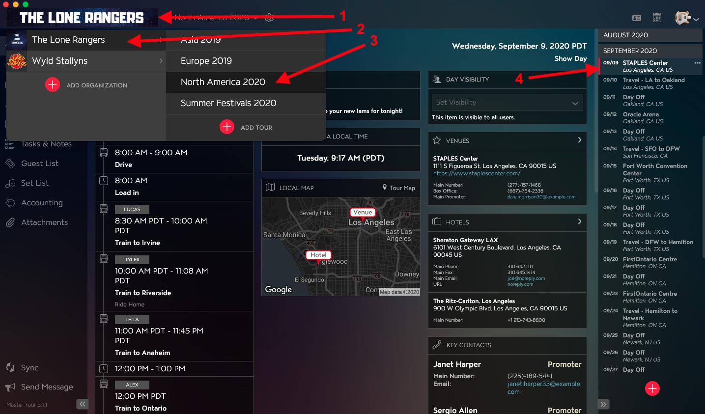 Visibility Tour Date Attachments